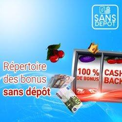 répertoire bonus sans dépôt belge